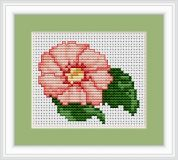 Luca-S Counted Cross Stitch Kit Pink Flower