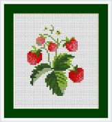 Luca-S Counted Cross Stitch Kit Strawberries