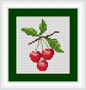 Luca-S Counted Cross Stitch Kit Cherries II