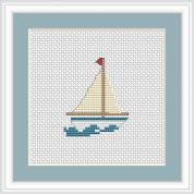 Luca-S Counted Cross Stitch Kit Boat