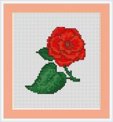 Luca-S Counted Cross Stitch Kit Rose