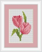Luca-S Counted Cross Stitch Kit Tulips