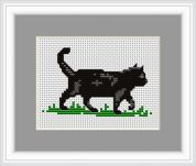 Luca-S Counted Cross Stitch Kit Black Cat