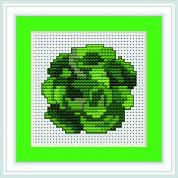 Luca-S Counted Cross Stitch Kit Cabbage