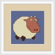 Luca-S Counted Cross Stitch Kit White Sheep