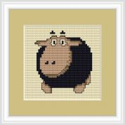 Luca-S Counted Cross Stitch Kit Black Sheep