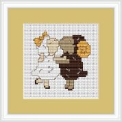 Luca-S Counted Cross Stitch Kit Sheep in Love