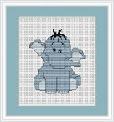Luca-S Counted Cross Stitch Kit Blue Elephant