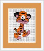 Luca-S Counted Cross Stitch Kit Tiger