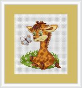 Luca-S Counted Cross Stitch Kit Baby Giraffe
