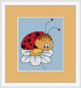 Luca-S Counted Cross Stitch Kit Ladybird in Love