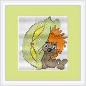 Luca-S Counted Cross Stitch Kit Hedgehog