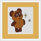 Luca-S Counted Cross Stitch Kit Bear & Bee