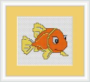 Luca-S Counted Cross Stitch Kit Gold Fish