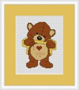 Luca-S Counted Cross Stitch Kit Love You Bear