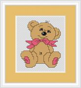 Luca-S Counted Cross Stitch Kit Baby Bear