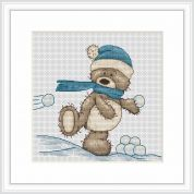 Luca-S Counted Cross Stitch Kit Snowballing Bruno