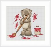 Luca-S Counted Cross Stitch Kit Paint Pot Bruno
