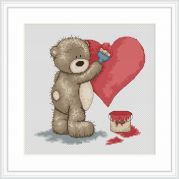 Luca-S Counted Cross Stitch Kit Valentine for Bianca