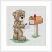 Luca-S Counted Cross Stitch Kit Bruno Collects the Mail