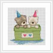Luca-S Counted Cross Stitch Kit Bears in A Box