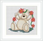 Luca-S Counted Cross Stitch Kit  Daisy Chain Bianca