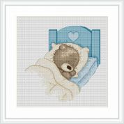 Luca-S Counted Cross Stitch Kit  Sleep Tight Bruno