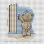 Luca-S Counted Cross Stitch Kit  Bruno at the Door
