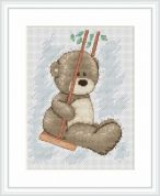 Luca-S Counted Cross Stitch Kit Bruno on the Swing
