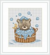 Luca-S Counted Cross Stitch Kit  Bathtime Bruno