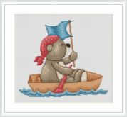 Luca-S Counted Cross Stitch Kit Pirate Bruno