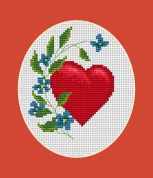 Luca-S Counted Cross Stitch Kit Valentine
