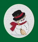 Luca-S Counted Cross Stitch Kit Mini Snowman