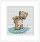 Luca-S Counted Cross Stitch Kit Bruno Makes a Splash