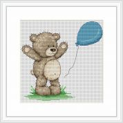 Luca-S Counted Cross Stitch Kit Bruno with Balloon