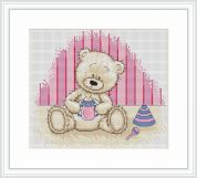 Luca-S Counted Cross Stitch Kit Baby Bianca