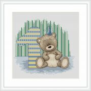 Luca-S Counted Cross Stitch Kit Brunos 1st Birthday