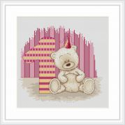 Luca-S Counted Cross Stitch Kit Biancas 1st Birthday
