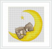 Luca-S Counted Cross Stitch Kit Sweet Dreams Bruno