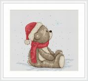 Luca-S Counted Cross Stitch Kit Santa Hat Bruno