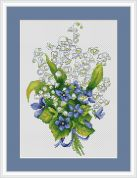 Luca-S Counted Cross Stitch Kit Lily
