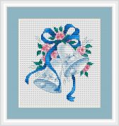 Luca-S Counted Cross Stitch Kit Blue Bells