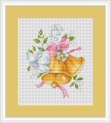 Luca-S Counted Cross Stitch Kit Golden Bells