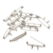 Corsage Clips  Silver