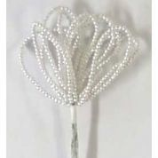 DIY Wedding Pearl Loop Beads Bunches on Stems  Ivory