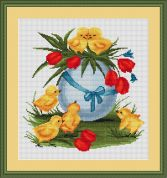Luca-S Counted Cross Stitch Kit Easter