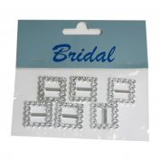 Faux Diamante Buckles  Silver