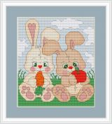 Luca-S Counted Cross Stitch Kit Bunnies
