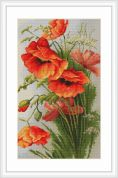 Luca-S Counted Cross Stitch Kit Red Poppies