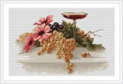 Luca-S Counted Cross Stitch Kit Flowers & Grapes